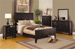 Sandy Beach Panel Bed 6 Piece Bedroom Set in Cappuccino Finish by Coaster - 201991