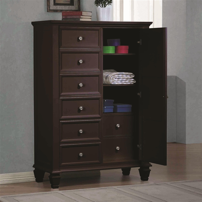 Sandy Beach Door Chest In Cappuccino Finish By Coaster