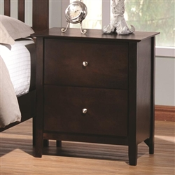 Tia Nightstand in Cappuccino Finish by Coaster - 202082