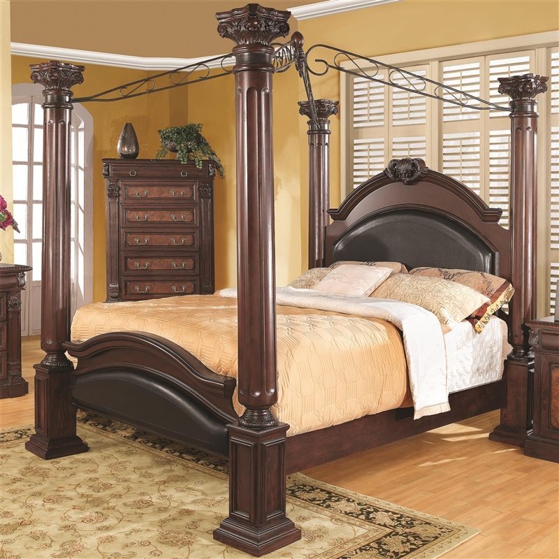 Grand Prado 6 Piece Bedroom Set In Warm Brown Cherry Finish By Coaster 202201