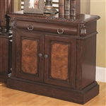 Grand Prado Nightstand in Warm Brown Cherry Finish by Coaster - 202202