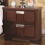 Hyland Nightstand in Dark Cherry Finish by Coaster - 202242