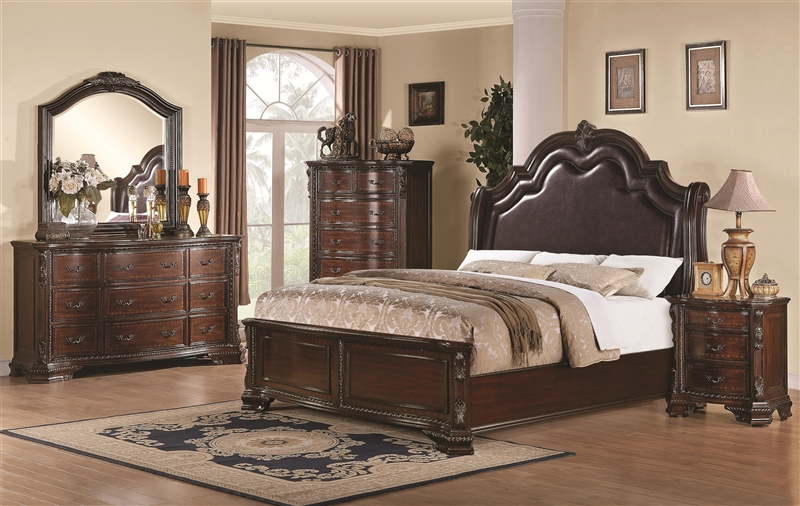 Maddison 6 Piece Bedroom Set in Warm Cappuccino Finish by Coaster   Maddison 6 Piece Bedroom Set in Warm Cappuccino Finish by Coaster   202260. Coaster Bedroom Furniture. Home Design Ideas