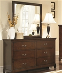 Tatiana Dresser in Warm Brown Finish by Coaster - 202393
