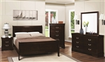 Louis Philippe 4 Piece Youth Bedroom Set in Cappuccino Finish by Coaster - 202411T
