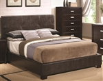Andreas Brown Vinyl Upholstered Bed by Coaster - 202470Q