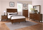 Jayden 6 Piece Storage Bed Bedroom Set in Light Cherry Finish by Coaster - 202480