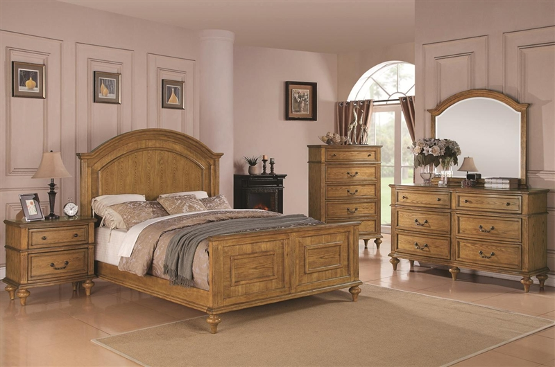 emily bedroom set emily 6 bedroom set in light oak finish by coaster 11508