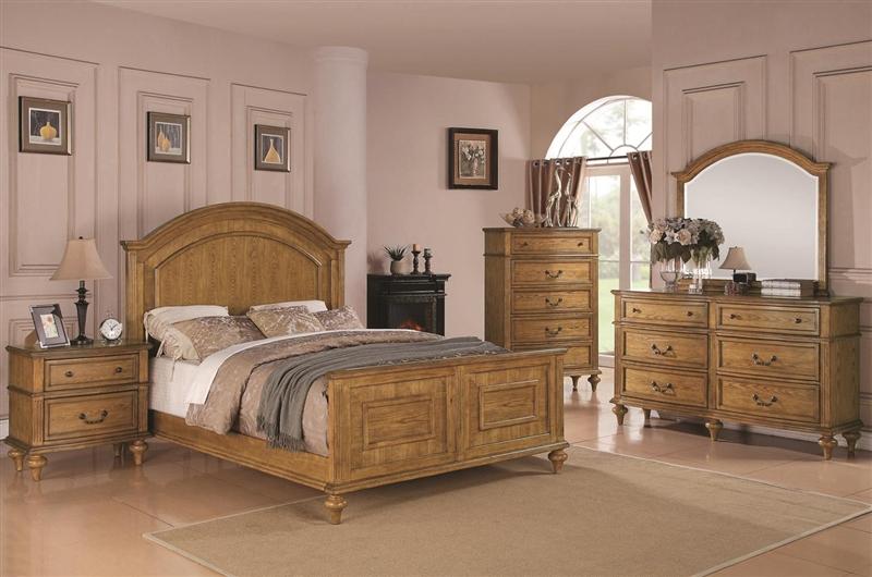 Emily 6 Piece Bedroom Set in Light Oak Finish by Coaster - 202571