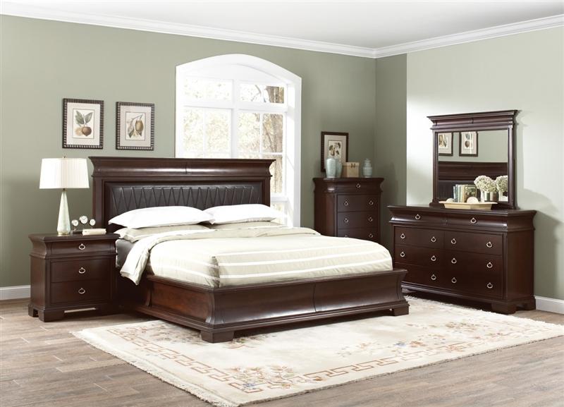 walnut bedroom set. Kurtis 6 Piece Bedroom Set in Walnut Brown Finish by Coaster  202611