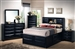 Briana 6 Piece Bookcase Bed Bedroom Set in Black Finish by Coaster - 202701