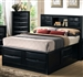 Briana Storage Bookcase Bed in Black Finish by Coaster - 202701Q