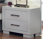 Jessica 2 Drawer Nightstand in White Finish by Coaster - 202992