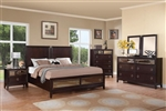 Williams 6 Piece Storage Bed Bedroom Set in Merlot Finish by Coaster - 203090