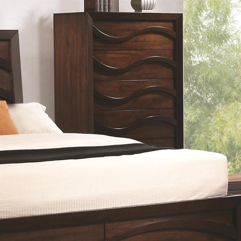 Loncar 6 Piece Bedroom Set in Java Oak Finish by Coaster - 203101