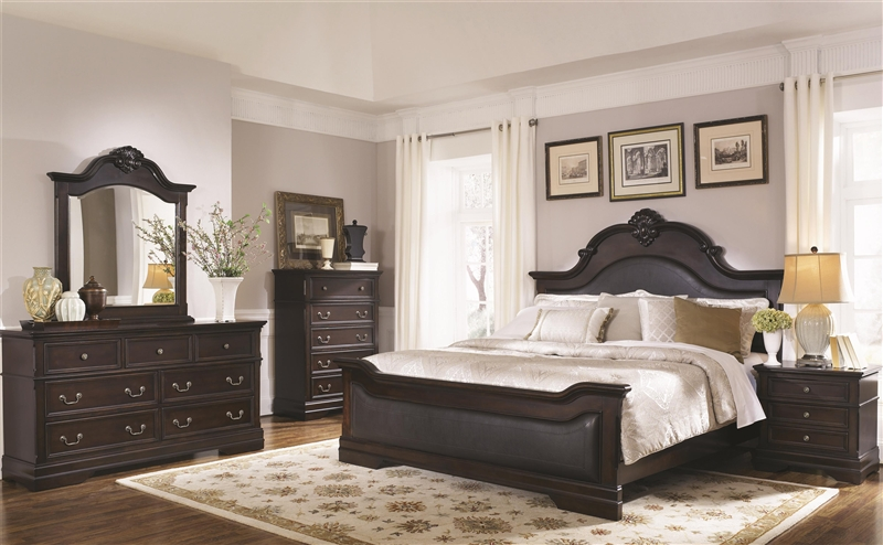 6 Piece Bedroom Set in Cappuccino Finish by Coaster - 203191