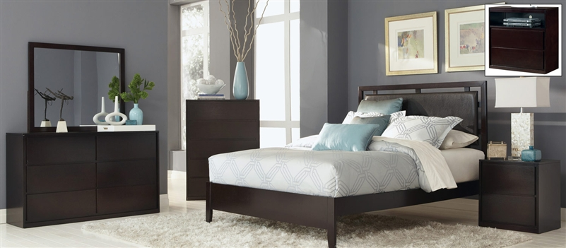 Bedroom Sets Espresso hudson 6 piece bedroom set in espresso finishcoaster - 203251