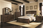 Laughton 6 Piece Bedroom Set in Rustic Brown Finish by Coaster - 203260