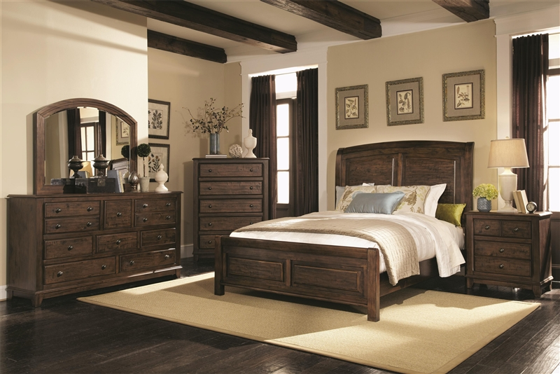 Laughton 6 Piece Bedroom Set In Rustic Brown Finish By Coaster 203260