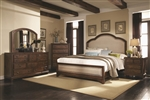 Laughton 6 Piece Bedroom Set in Rustic Brown Finish by Coaster - 203261