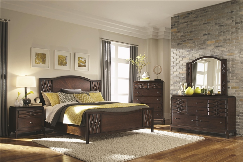 Salisbury 6 Piece Bedroom Set In Rich Brown Finish By Coaster   203301