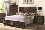 Bryce Storage Bed in Rich Cappuccino Finish by Coaster - 203471Q