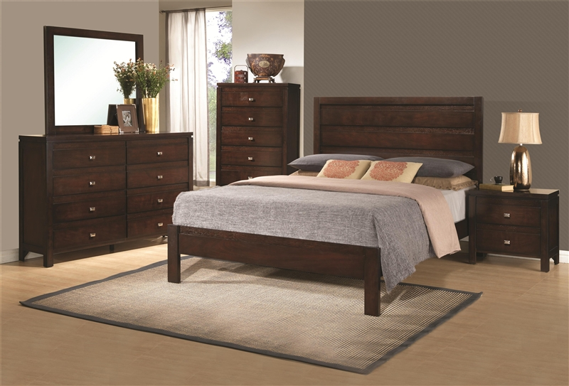 Cameron 6 Piece Bedroom Set in Rich Brown Finish by Coaster   203491 . Coaster Bedroom Furniture. Home Design Ideas