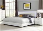 Felicity Bed in Glossy White Finish by Coaster - 203500Q