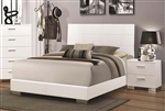 Felicity Bed in Glossy White Finish by Coaster - 203501Q