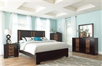 Dominic 6 Piece Bedroom Set in Two Tone Charcoal and Oak Finish by Coaster - 203531
