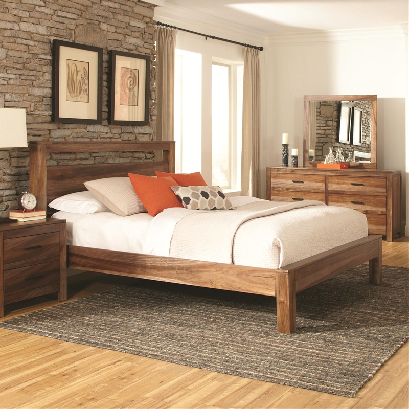 Peyton 6 Piece Bedroom Set in Natural Finish by Coaster - 203651