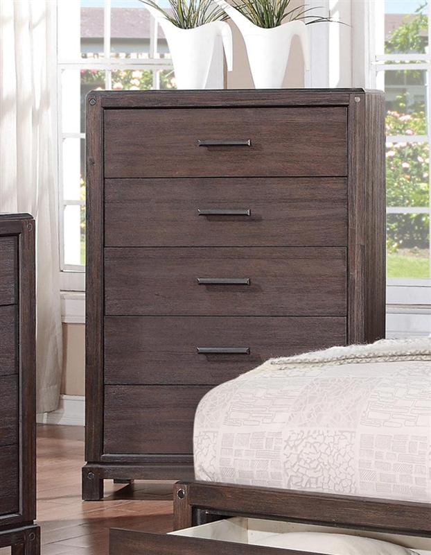 Grayson Storage Bed 6 Piece Bedroom Set in Wire Brushed Dark Black Finish by Coaster - 203681 & Grayson Storage Bed 6 Piece Bedroom Set in Wire Brushed Dark Black ...