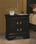 Louis Philippe Nightstand in Black Finish by Coaster - 203962