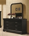 Louis Philippe Dresser in Black Finish by Coaster - 203963