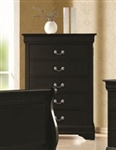 Louis Philippe Chest in Black Finish by Coaster - 203965