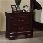 Louis Philippe Nightstand in Rich Cherry Finish by Coaster - 203972