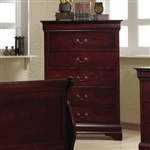 Louis Philippe Chest in Rich Cherry Finish by Coaster - 203975
