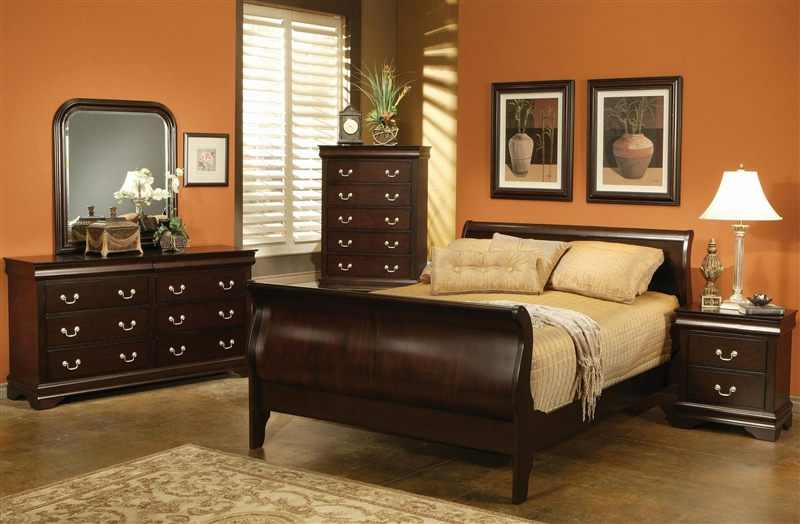 Louis Philippe 6 Piece Bedroom Set In Rich Cappuccino Finish By Coaster 203981n