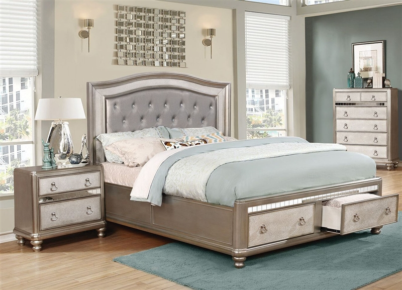 set pkg platinum bling king bedroom diva bed upholstered id the lovable