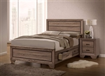 Kauffman Storage Bed in Washed Taupe Finish by Coaster - 204190Q
