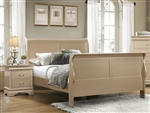 Hershel Louis Philippe Bed in Metallic Champagne Finish by Coaster - 204421Q