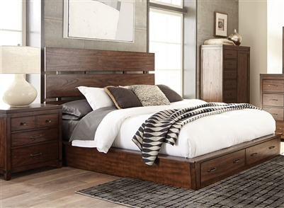 Artesia Storage Bed in Dark Cocoa Finish by Scott Living - 204470Q