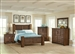 Sutter Creek 6 Piece Bedroom Set in Vintage Bourbon Finish by Coaster - 204531