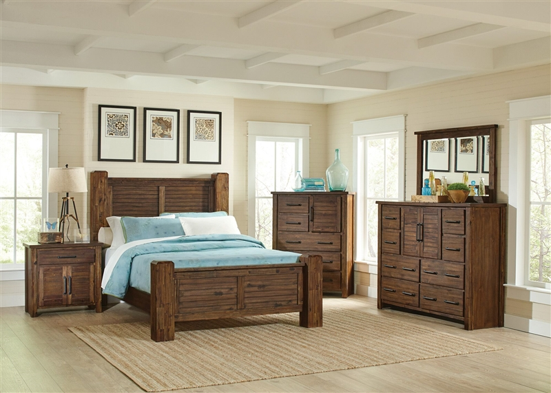 Awesome Sutter Creek 6 Piece Bedroom Set In Vintage Bourbon Finish By Coaster 204531 Download Free Architecture Designs Photstoregrimeyleaguecom