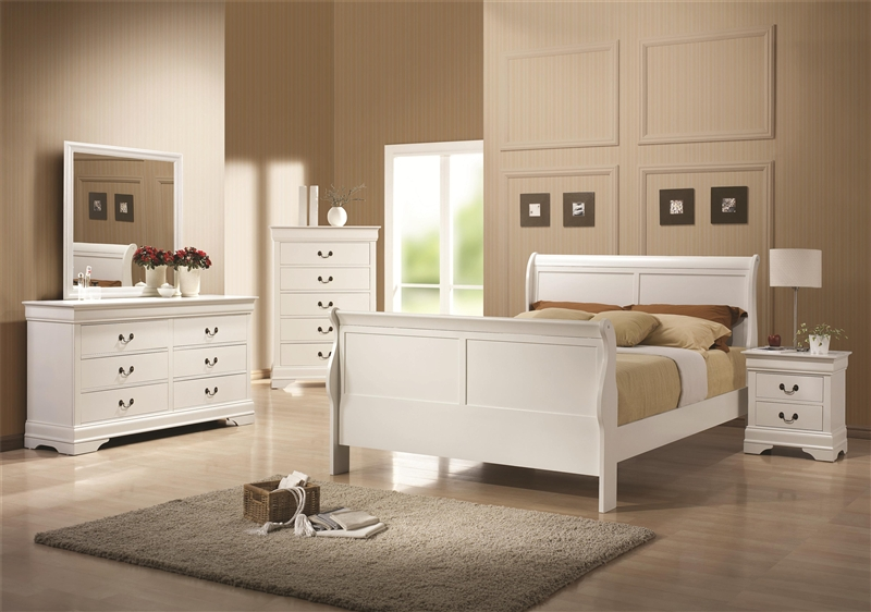 Louis Philippe 6 Piece Bedroom Set In White Finish By Coaster