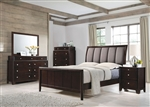 Madison 6 Piece Bedroom Set in Dark Merlot Finish by Coaster - 204881