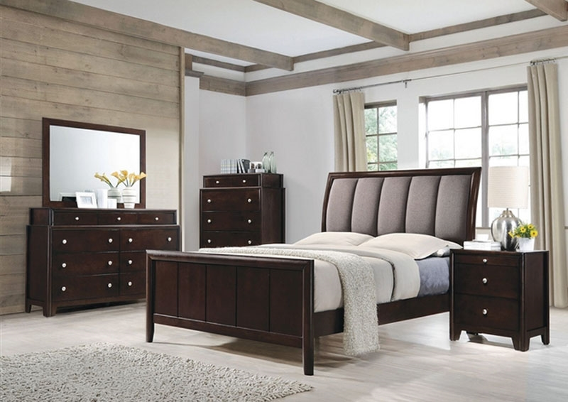 6 Piece Bedroom Set in Dark Merlot Finish by Coaster - 204881