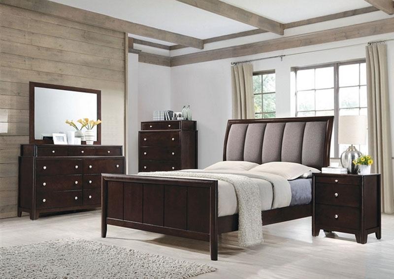 Madison 6 Piece Bedroom Set in Dark Merlot Finish by Coaster - 204881
