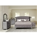Deanna Platform Bed 6 Piece Bedroom Set in Grey Velvet and Metallic Finish by Coaster - 205101