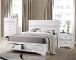 Miranda Storage Bed in White Finish by Coaster - 205111Q